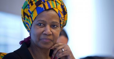 Phumzile Mlambo-Ngcuka, under-secretary-general at the United Nations and executive director of the UN Women program, listens during an interview in New York, U.S., on Wednesday, March 5, 2014.  Photographer: Jin Lee/Bloomberg